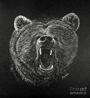 Grizzly Bears Drawing - Ursus Horribilis by Joey Nash