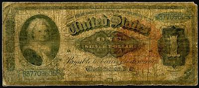 Debt Painting - U.s. 1886 One Dollar Silver Certificate  by Lanjee Chee