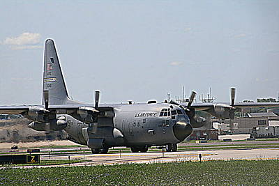 Photograph - U.s. Air Force C-130 by Kay Novy