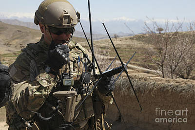 Talking On The Phone Photograph - U.s. Air Force Joint Terminal Attack by Stocktrek Images