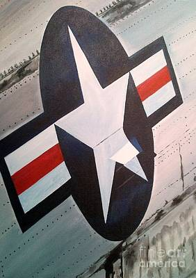 Insignia Painting - Us Airforce by Richard John Holden RA