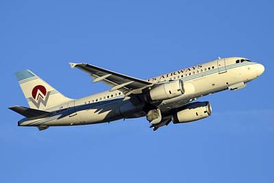 Us Airways Airbus A319-132 N828aw America West Legacy Phoenix Sky Harbor December 24 2014  Art Print by Brian Lockett