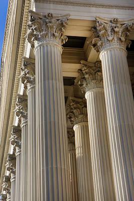 Us Archive Columns Art Print