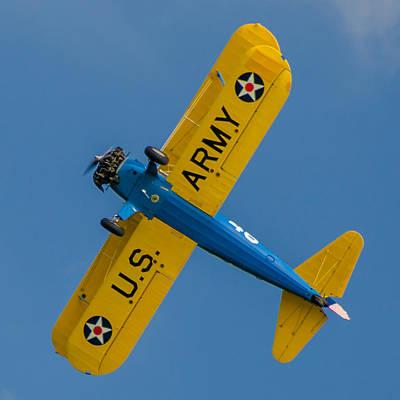 Photograph - Us Army B75 Biplane by Guy Whiteley