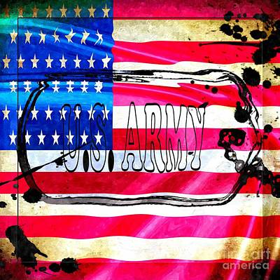 U.s. Army Flag Art Print