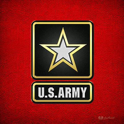 Digital Art - U. S. Army Logo by Serge Averbukh