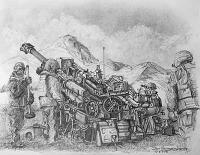 Us Army M-777 Howitzer Art Print