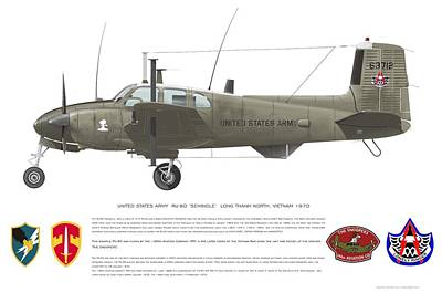 Digital Art - U.s. Army Ru-8d 146th by Rick Blyseth