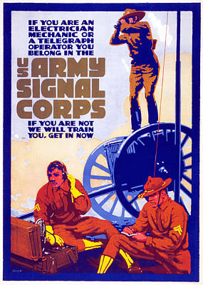 Us Army Signal Corps, 1917-20 Art Print by Horace Devitt Welsh