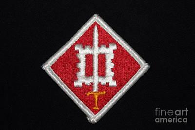 Het Photograph - Us Army Vietnam Combat Engineers Patch by Reid Callaway
