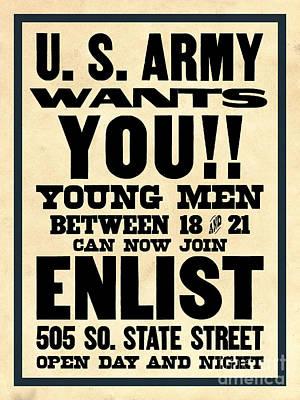 U.s. Army Wants You Art Print