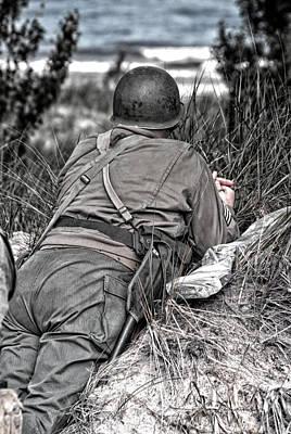 Skirmish Digital Art - Us Army Ww II Soldier by Thomas Woolworth