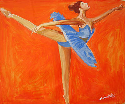 Painting - U.s Ballet Dance-1 by Anand Swaroop Manchiraju
