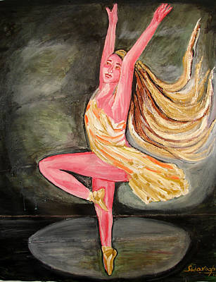 Painting - U.s Ballet Dance-10 by Anand Swaroop Manchiraju