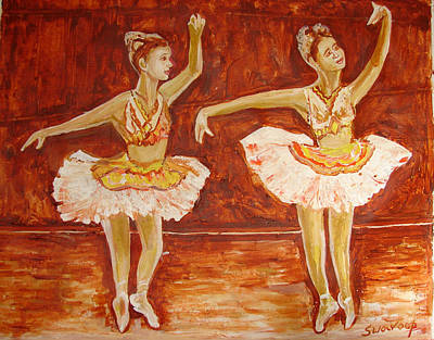 Painting - U.s Ballet Dance-11 by Anand Swaroop Manchiraju