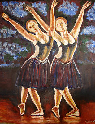 Painting - U.s Ballet Dance-12 by Anand Swaroop Manchiraju