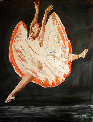Painting - Us Ballet Dance-13 by Anand Swaroop Manchiraju