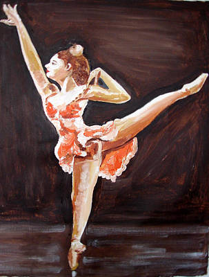 Painting - Us Ballet Dance-16 by Anand Swaroop Manchiraju