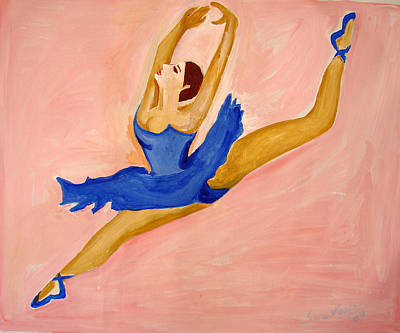 Painting - U.s Ballet Dance-3 by Anand Swaroop Manchiraju