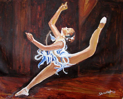 Painting - U.s Ballet Dance-5 by Anand Swaroop Manchiraju