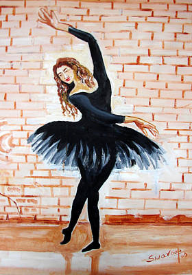 Painting - U.s Ballet Dance-7 by Anand Swaroop Manchiraju