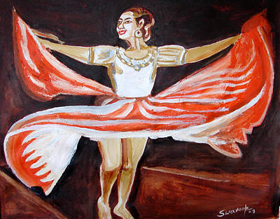 Painting - U.s Ballet Dance-8 by Anand Swaroop Manchiraju