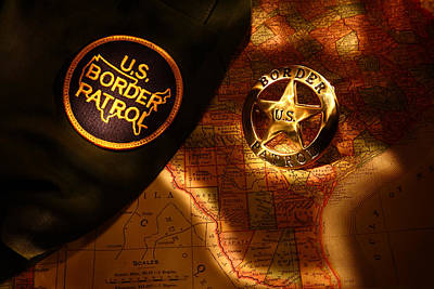 Us Border Patrol Art Print by Daniel Alcocer