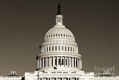 Us Capital Building Dome Art Print by Dustin K Ryan