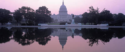 Us Capitol Building At Dawn, Washington Art Print