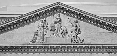 Photograph - Us Capitol Building Facade- Black And White by Shanna Hyatt