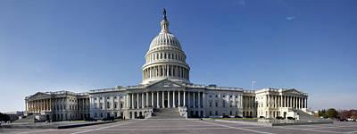 Us Capitol Panorama Art Print
