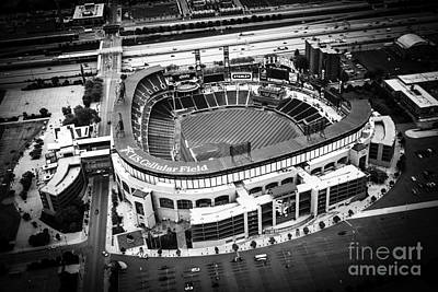 Baseball Royalty-Free and Rights-Managed Images - U.S. Cellular Field Aerial Picture in Black and White by Paul Velgos