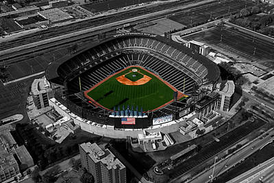 Us Cellular Field Chicago Sports 08 Selective Coloring Digital Art Art Print by Thomas Woolworth