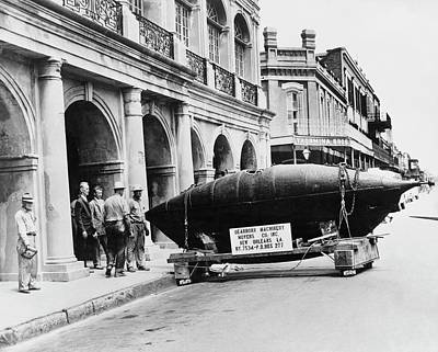 American Civil War Photograph - Us Civil War Submarine by Us Navy