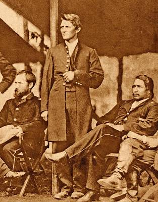 1860s Photograph - Us Civil War Union Officers by American Philosophical Society