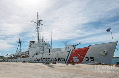 Us Coast Guard Cutter Ingham Whec-35 - Key West - Florida Art Print by Ian Monk
