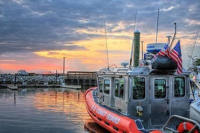 Coast Guard Photograph - Us Coast Guard Defender Class Boat by JC Findley