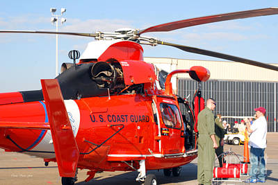 Photograph - U.s. Coast Guard Dolphin Helicopter by Connie Fox