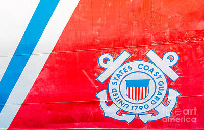Sign In Florida Photograph - Us Coast Guard Emblem - Uscgc Ingham Whec-35 - Key West - Florida by Ian Monk