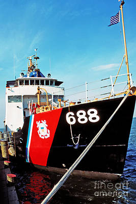 Red Cedar Photograph - Us Coast Guard Ship by Thomas R Fletcher