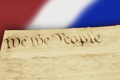 Us Constitution Art Print by Linda Phelps