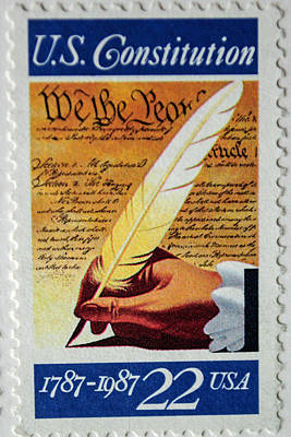 Photograph - Us Constitution Stamp by Tikvah's Hope