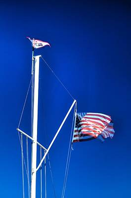 Jerry Sodorff Royalty-Free and Rights-Managed Images - US Flag 19749 by Jerry Sodorff