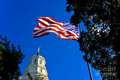 Photograph - Flag And Moroni by Richard Lynch