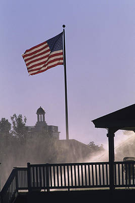 Photograph - U.s. Flag At Pinehurst by Dom Furore
