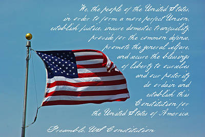 Photograph - Us Flag Preamble by Robyn Stacey