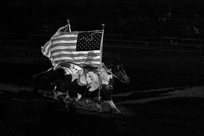 Photograph - U.s. Flag Western by Ron White