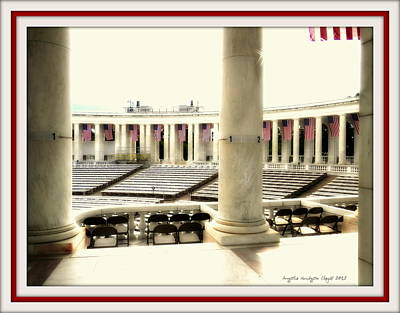 Lincoln Memorial Digital Art - Us Future Speeches by Angelia Hodges Clay
