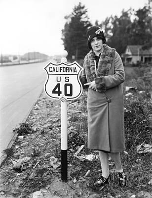 Beautiful Western Women Photograph - U.s. Highway 40 by Underwood Archives