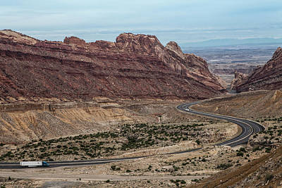 Us Interstate Highway 70 Winds Art Print by Kent Kobersteen